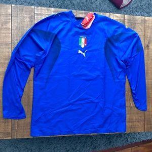 Puma Italia Home Long Sleeve Shirt Replica